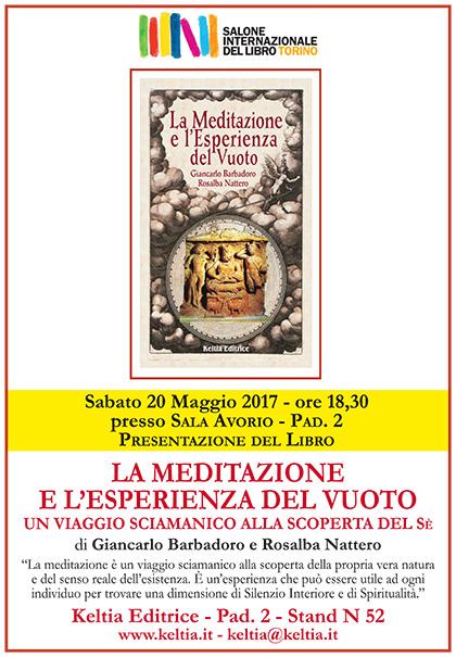 Salone del Libro di Torino - Venerdì 20 Maggio ore 18.30 - Presentazione del libro: La Meditazione e l'Esperienza del Vuoto