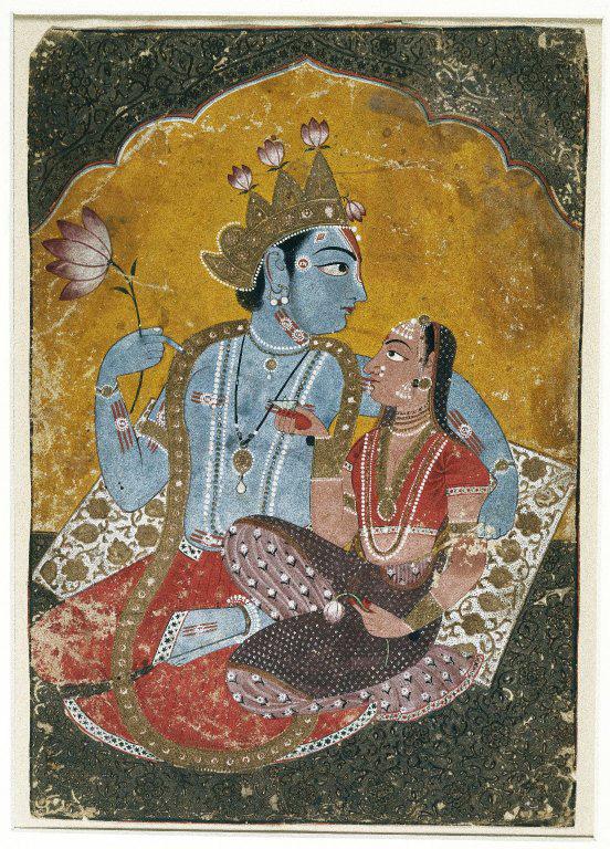 La coppia divina di Krishna e Radha: l'acquarello del XVII secolo mostra il dio con la sua preferita fra le pastorelleIl LabGraal con Stefano Milla