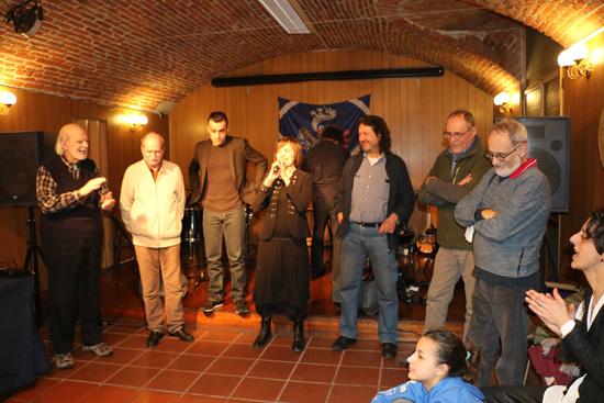 Giancarlo Barbadoro con i colleghi del Tavolo Animali & Ambiente in occasione della festa per la chiusura del progetto della riapertura dello zoo di Torino
