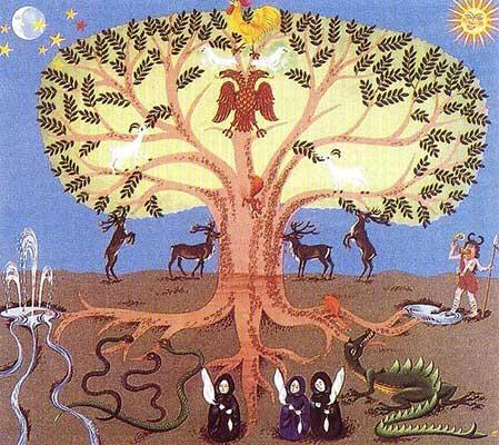 Risultati immagini per le Norme mitologia e yggdrasil