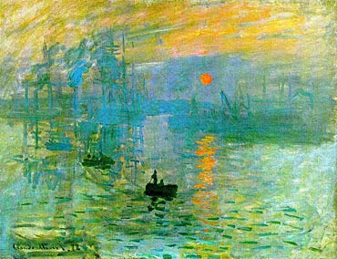 """626a1bcb01 """"Soleil levant"""" di Claude Monet, olio su tela 48x63 cm, Musée Marmottan  Monet, Paris"""