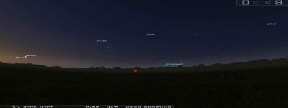 I cinque pianeti allineati durante le albe di Febbraio