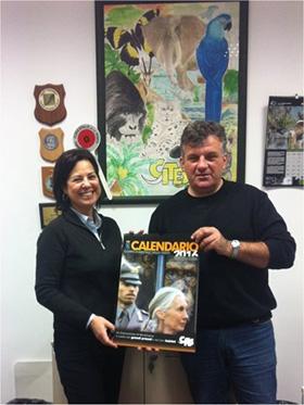 Daniela De Donno Mannini e Marco Fiori, Sovrintendente Capo del Servizio CITES, presentano il Calendario CITES del 2016