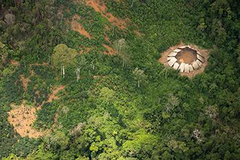 Uno Yano degli Indiani incontattati nella riserva indigena Yanomami. È noto che almeno tre gruppi yanomami sono incontattati  (Foto: Guilherme Gnipper Trevisan)