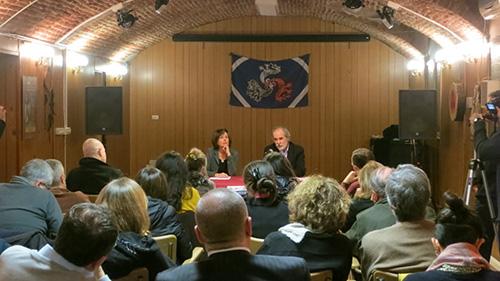 """La conferenza di Gino Ditadi al Garage di Arte & Cultura di Torino per la presentazione del libro """"Sul mangiar carne"""" di Plutarco da lui curato"""