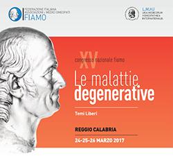 Il 24-25-26 marzo a Reggio Calabria si terrà il XV Congresso di Omeopatia indetto dalla  FIAMO, Federazione Italiana Associazioni e Medici Omeopati, dal titolo: Le Malattie Degenerative,