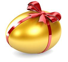 L'origine dell'usanza dell'uovo pasquale rimane un mistero. Antiche tradizioni non cristiane lo associano al simbolo del germe della vita legato ad una specie sauroide e ovipara che sarebbe esistita prima dell'umanità