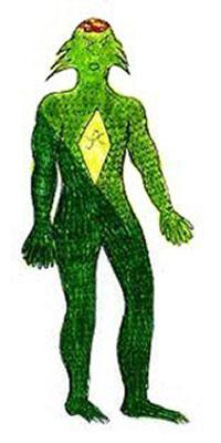 La creatura sauroide incontrata nel 1978 dal metronotte Piero Zanfretta nell'entroterra ligure