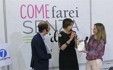 Rosalba Nattero presenta il suo libro ''Ecospiritualità a tavola'' allo stand di Rete 7 al Salone Internazionale del libro di Torino 2017