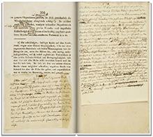 Organon di Hahnemann- manoscritto  della sesta edizione alla Biblioteca Universitaria di San Francisco
