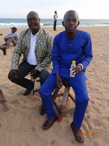 Ange Yvon Hounkonnou, promotore dell'evento, con il Vice Sindaco di Cotonou