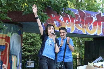 """Rosalba Nattero conclude la manifestazione del 27 maggio con lo slogan """"Noi non ci fermeremo!"""""""