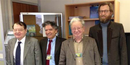 Luc Montagnier, Giuseppe Vitiello, Emilio Del Giudice e Alberto Tedeschi