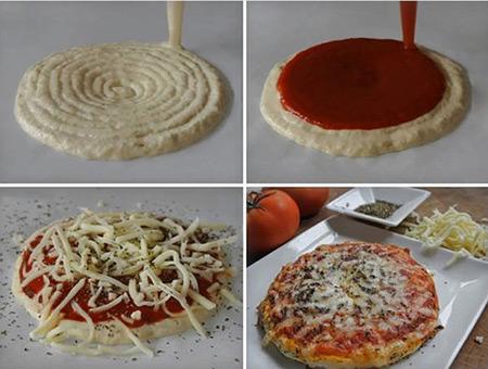 Il procedimento per una pizza in 3D