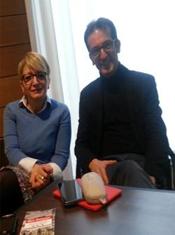 La Dottoressa Isabella Villa, pediatra e il Dottor Giorgio Desanti, oculista