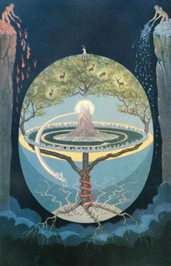 Rappresentazione dell'Yggdrasil, l'Albero della vita