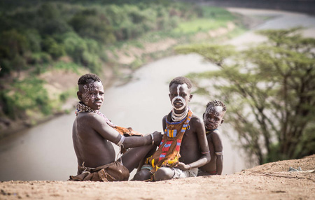 Lake Turkana and the River Omo, a lifeline to many tribal peoples, are drying up due to mega dam (Image: Nicola Bailey/ Survival, 2015)