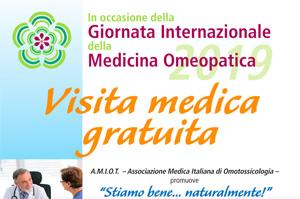 GIORNATA INTERNAZIONALE DELLA MEDICINA OMEOPATICA 2019.
