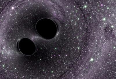 Buchi neri in rotta di collisione: questi sistemi binari sono tra i principali produttori di onde gravitazionali. Credit: LIGO