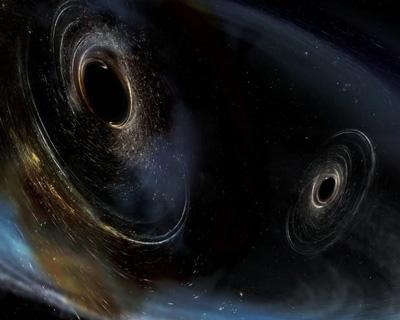 Duo danzante di buchi neri. Credit: LIGO