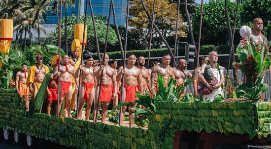 A Hawaiian ceremony conducted by Kai Markell