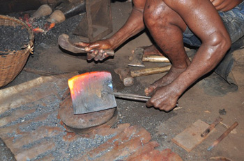 L'officina dove si lavora il ferro