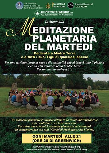 La meditazione planetaria del martedì, promossa già negli anni '80 da Giancarlo Barbadoro