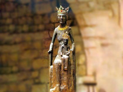 La Madonna Nera di Rocamadour, dipartimento del Lot nella regione dell'Occitania (Francia)