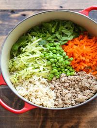 Mix di cereali, legumi e verdure