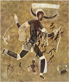 Graffito del Tassili (Algeria), 6.000-4.000 a.C.