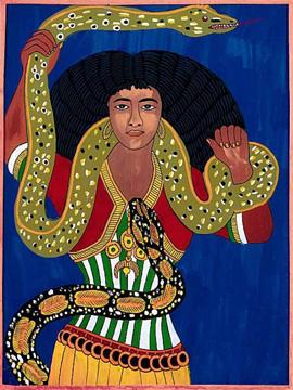 Rappresentazione della divinità Mami Wata